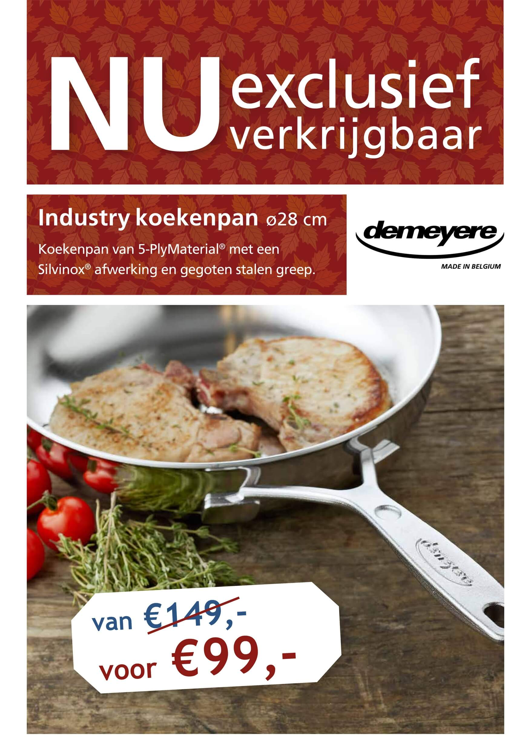 Industry koekenpan DeMeyere Ø 28 cm.